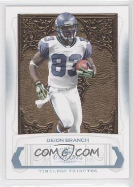 2009 Donruss Classics Timeless Tributes Platinum #85 - Deion Branch /25