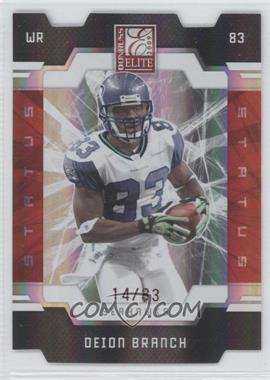 2009 Donruss Elite - [Base] - Status Red Die-Cut #86 - Deion Branch /83