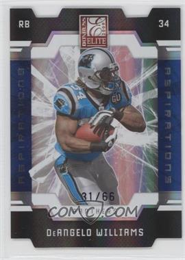 2009 Donruss Elite Aspirations Die-Cut #14 - DeAngelo Williams /66