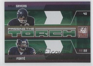 2009 Donruss Elite Passing the Torch Green #1 - Gale Sayers, Matt Forte /499