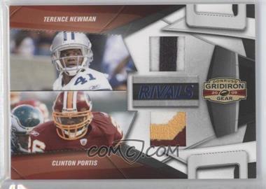 2009 Donruss Gridiron Gear - Rivals - Jerseys Prime [Memorabilia] #6 - Clinton Portis, Terence Newman /50