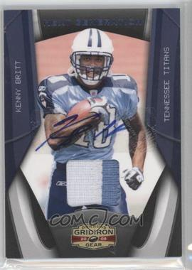 2009 Donruss Gridiron Gear [???] #6 - Kenny Britt /10