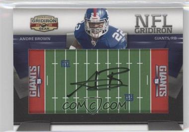 2009 Donruss Gridiron Gear NFL Gridiron Rookie Signatures #19 - Andre Brown /45