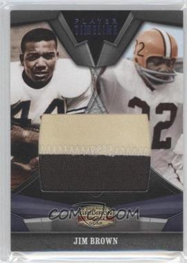 2009 Donruss Gridiron Gear Player Timeline Jumbo Swatch Prime [Memorabilia] #21 - Jim Brown /1
