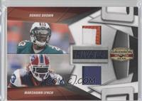 Ronnie Brown, Marshawn Lynch /50