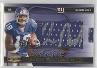 Rookie Gridiron Gems Jumbo Signatures - Hakeem Nicks /100