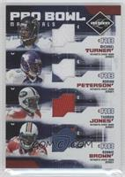 Michael Turner, Adrian Peterson, Thomas Jones, Ronnie Brown /100