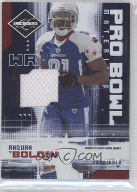 2009 Donruss Limited Pro Bowl Materials #3 - Anquan Boldin /100