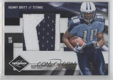 2009 Donruss Limited Rookie Jumbo Jerseys Prime #17 - Kenny Britt /10