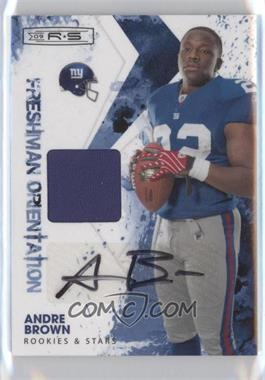 2009 Donruss Rookies & Stars Freshman Orientation Materials Signatures [Autographed] #10 - Andre Brown /100