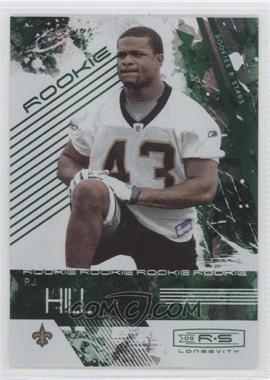 2009 Donruss Rookies & Stars Longevity Emerald #179 - P.J. Hill /25