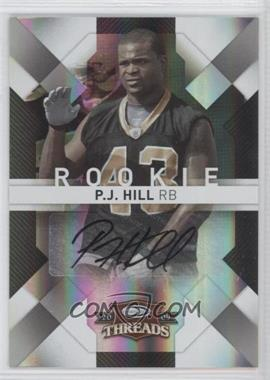 2009 Donruss Threads - [Base] - Silver Signatures [Autographed] #177 - P.J. Hill /25