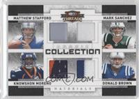 Knowshon Moreno, Matthew Stafford, Donald Brown, Mark Sanchez /25