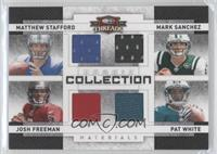 Josh Freeman, Mark Sanchez, Matthew Stafford, Pat White /100