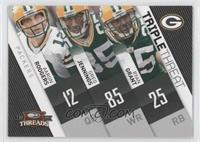 Greg Jennings, Ryan Grant, Aaron Rodgers