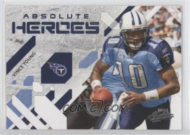 2009 Playoff Absolute Memorabilia - Absolute Heroes #25 - Vince Young