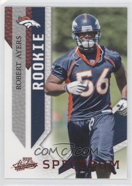 2009 Playoff Absolute Memorabilia - [Base] - Spectrum Red #185 - Robert Ayers