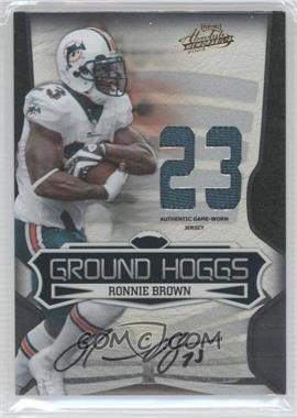 2009 Playoff Absolute Memorabilia - Ground Hoggs - Die-Cut Jersey Number Materials Signatures [Autographed] [Memorabilia] #19 - Ronnie Brown /5