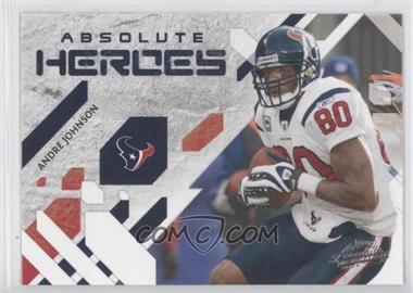 2009 Playoff Absolute Memorabilia Absolute Heroes #1 - Andre Johnson