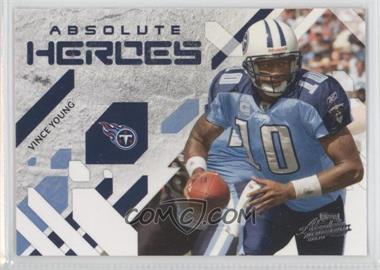 2009 Playoff Absolute Memorabilia Absolute Heroes #25 - Vince Young