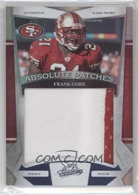 2009 Playoff Absolute Memorabilia Absolute Patches Jumbo Prime Spectrum #14 - Frank Gore /25