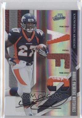 2009 Playoff Absolute Memorabilia Rookie Premiere Materials Spectrum AFC/NFC Prime Signatures [Autographed] [Memorabilia] #208 - Knowshon Moreno /10