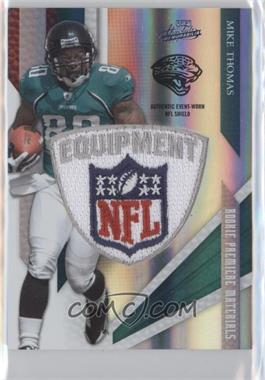 2009 Playoff Absolute Memorabilia Rookie Premiere Materials Spectrum NFL Shield Patch [Memorabilia] #231 - Mike Thomas /5