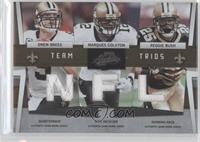 Drew Brees, Reggie Bush, Marques Colston /50