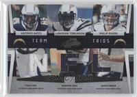 Antonio Gates, LaDainian Tomlinson, Philip Rivers /50