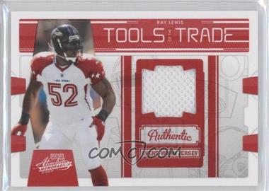 2009 Playoff Absolute Memorabilia Tools of the Trade Materials Red #27 - Ray Lewis /250