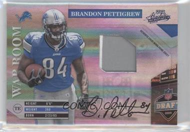 2009 Playoff Absolute Memorabilia War Room Materials Prime Signatures [Autographed] [Memorabilia] #15 - Brandon Pettigrew /10