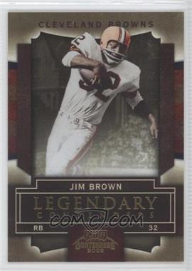 2009 Playoff Contenders - Legendary Contenders - Gold #45 - Jim Brown /100