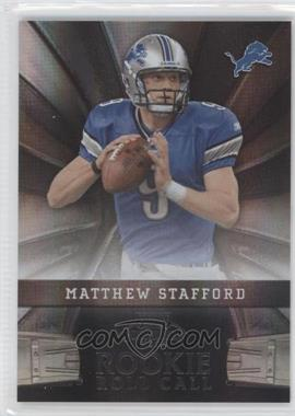 2009 Playoff Contenders - Rookie Roll Call - Black #4 - Matthew Stafford /50