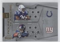 Donald Brown, Hakeem Nicks /100