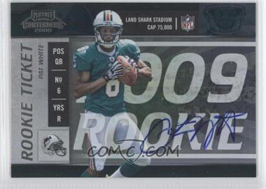 2009 Playoff Contenders #118 - Pat White