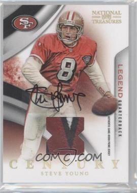 2009 Playoff National Treasures - [Base] - Century Materials Signatures Prime [Autographed] [Memorabilia] #234 - Steve Young /25
