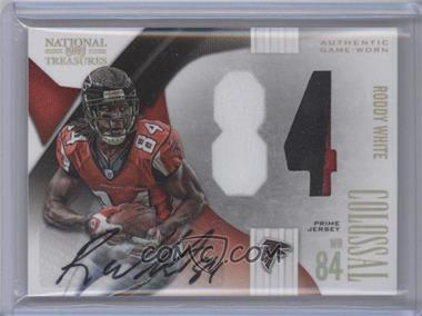 2009 Playoff National Treasures - Colossal Materials - Jersey Number Signatures Prime [Autographed] #18 - Roddy White /3