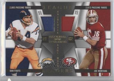 2009 Playoff National Treasures - League Leaders - Combos Materials Prime [Memorabilia] #7 - Dan Fouts, Joe Montana /25