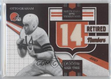 2009 Playoff National Treasures - Retired Jersey Numbers #2 - Otto Graham /10