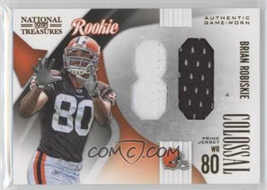 2009 Playoff National Treasures - Rookie Colossal Materials - Jersey Number Prime #17 - Brian Robiskie /25