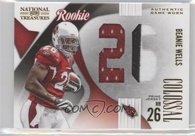 2009 Playoff National Treasures - Rookie Colossal Materials - Jersey Number Prime #18 - Beanie Wells /25