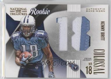 2009 Playoff National Treasures - Rookie Colossal Materials - Jersey Number Prime #5 - Kenny Britt /25