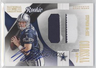 2009 Playoff National Treasures - Rookie Colossal Materials - Position Signatures Prime [Autographed] #24 - Stephen McGee /10