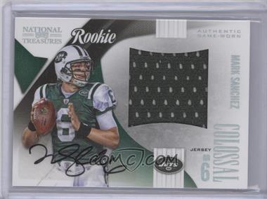 2009 Playoff National Treasures - Rookie Colossal Materials - Signatures [Autographed] #1 - Mark Sanchez /50