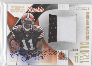 2009 Playoff National Treasures - Rookie Colossal Materials - Signatures Prime [Autographed] #32 - Mohamed Massaquoi /10