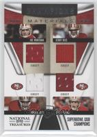Jerry Rice, Joe Montana, Ronnie Lott, Steve Young /99