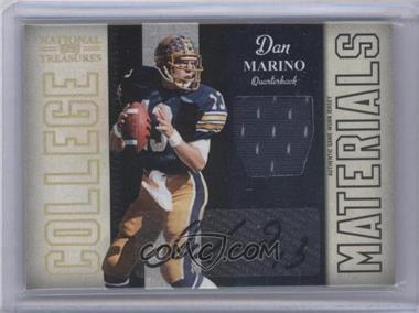 2009 Playoff National Treasures College Materials Signatures [Autographed] #7 - Dan Marino /10