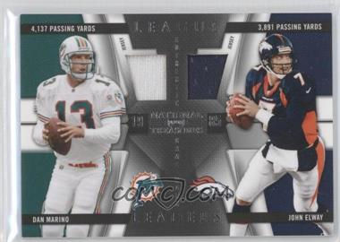 2009 Playoff National Treasures League Leaders Combos Materials [Memorabilia] #10 - John Elway, Dan Marino /99