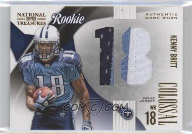2009 Playoff National Treasures Rookie Colossal Materials Jersey Number Prime #5 - Kenny Britt /25