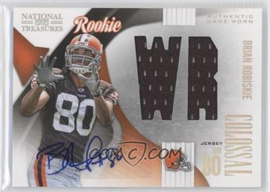 2009 Playoff National Treasures Rookie Colossal Materials Position Signatures [Autographed] #17 - Brian Robiskie /50